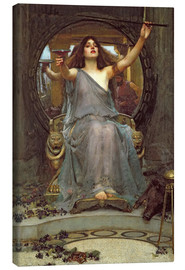 Canvas print  Circe Offering the Cup to Ulysses - John William Waterhouse