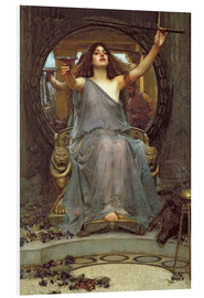Foam board print  Circe Offering the Cup to Ulysses - John William Waterhouse