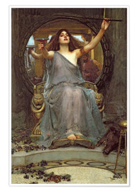 Premium poster  Circe Offering the Cup to Ulysses - John William Waterhouse