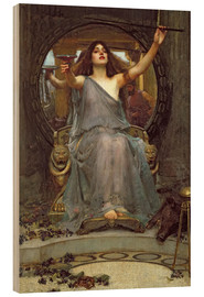 Wood print  Circe Offering the Cup to Ulysses - John William Waterhouse