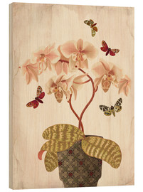Wood print  Orchid Portrait - Mandy Reinmuth