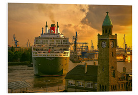 Foam board print  Queen Mary II Landungsbrücken Hamburg - Sabine Wagner