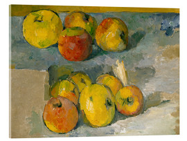 Acrylic print  Apples and cloth - Paul Cézanne