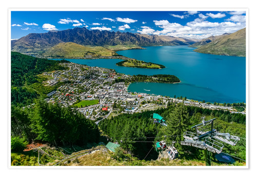 Premium poster Queenstown New Zealand