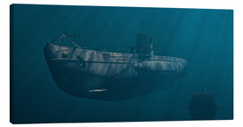Canvas print  Submarine 1941, Behind Enemy Lines - Peter Weishaupt