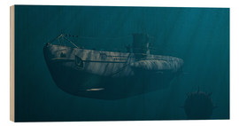 Wood print  Submarine 1941, Behind Enemy Lines - Peter Weishaupt