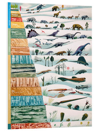 Foam board print  Dinosaurs and geological history