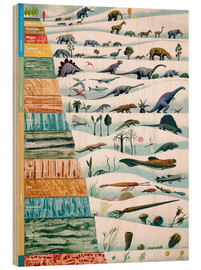 Wood print  Dinosaurs and geological history