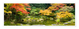 Premium poster Japanese garden in autumn