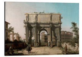 Aluminium print  Arch of Constantine with the Colosseum - Antonio Canaletto