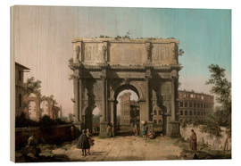 Wood  Arch of Constantine with the Colosseum - Antonio Canaletto