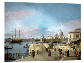 Acrylic print  Entrance to the Grand Canal from the Molo - Antonio Canaletto