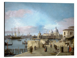 Aluminium print  Entrance to the Grand Canal from the Molo - Antonio Canaletto