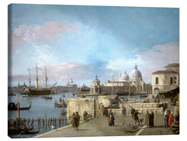 Canvas print  Entrance to the Grand Canal from the Molo - Antonio Canaletto