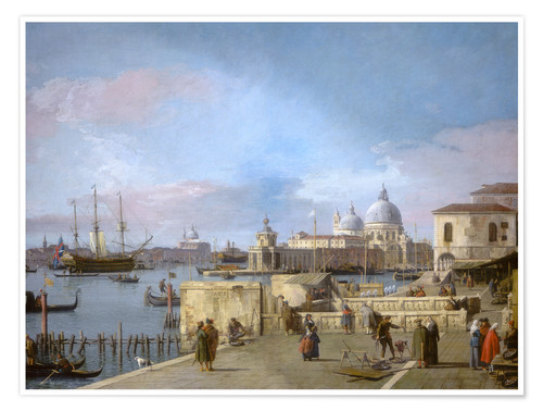 Premium poster Entrance to the Grand Canal from the Molo
