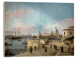 Wood  Entrance to the Grand Canal from the Molo - Antonio Canaletto
