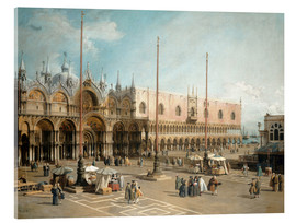 Acrylic print  The Square of Saint Mark's - Antonio Canaletto