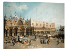 Aluminium print  The Square of Saint Mark's - Antonio Canaletto