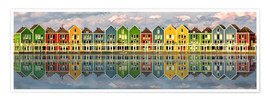 Poster  The colorful houses of Houten   Netherlands - Sabine Wagner