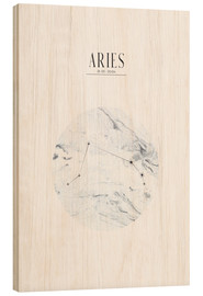 Wood print  ARIES | ARIES - Stephanie Wünsche