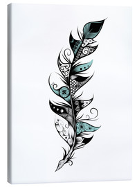 Canvas print  Poetic Feather - LouJah