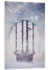 Forex  Snowglobe with birch trees and raven - Sybille Sterk