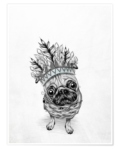 Poster Indian Pug