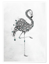 Poster Poetic Flamingo