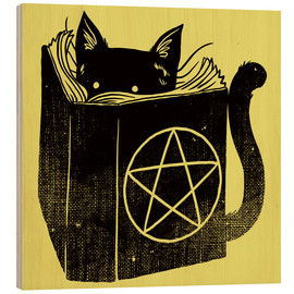 Wood print  Witchcraft Cat - Tobe Fonseca
