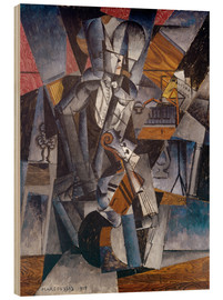 Wood print  The Musician - Louis Marcoussis
