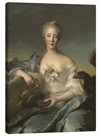 Canvas print  Madame Le Fevre de Caumartin as Hebe - Jean-Marc Nattier