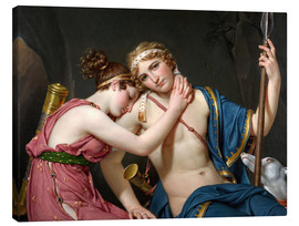Canvas print  Farewell of Telemachus and Eucharis - Jacques-Louis David