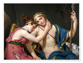 Premium poster  Farewell of Telemachus and Eucharis - Jacques-Louis David
