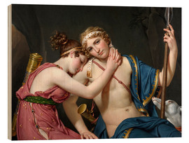 Wood print  Farewell of Telemachus and Eucharis - Jacques-Louis David