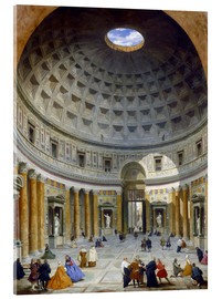 Acrylic print  Interior of the Pantheon - Giovanni Paolo Pannini