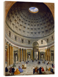 Wood print  Interior of the Pantheon - Giovanni Paolo Pannini