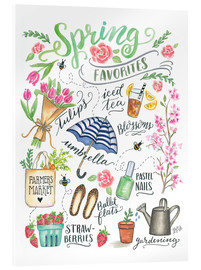 Acrylic glass  Spring Favourites - Lily & Val
