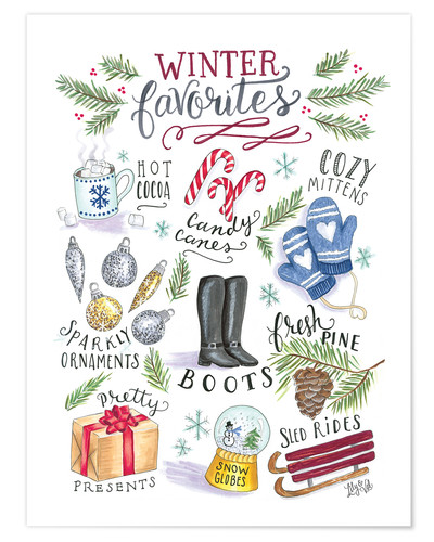 Premium poster Winter favourites