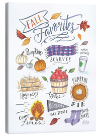 Canvas print  Fall Favorites - Lily & Val