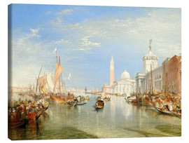 Canvas print  Venice, The Dogana and San Giorgio Maggiore - Joseph Mallord William Turner
