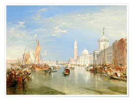 Premium poster  Venice, The Dogana and San Giorgio Maggiore - Joseph Mallord William Turner