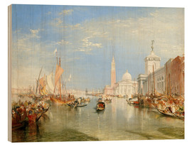 Wood print  Venice, The Dogana and San Giorgio Maggiore - Joseph Mallord William Turner