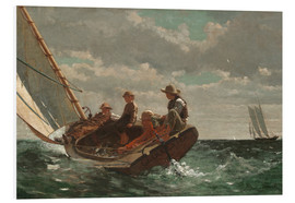 Foam board print  Breezing Up (A Fair Wind) - Winslow Homer