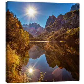 Canvas print  glory morning - Silvio Schoisswohl