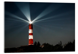 Acrylic glass  Lighthouse night on Amrum - Oliver Henze