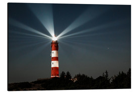 Alu-Dibond  Lighthouse night on Amrum - Oliver Henze