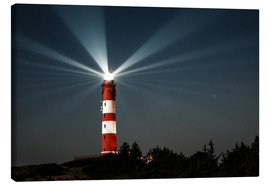 Canvas  Lighthouse night on Amrum - Oliver Henze