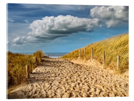 Acrylic print  Through the dunes to the beach - Peter Roder