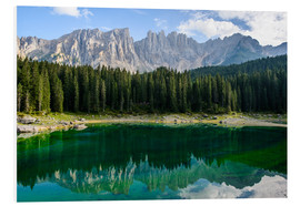 Forex  Panoramic view of karersee with Latemar mountain range, Dolomites, Italy - Peter Wey