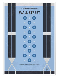 Premium poster My Wall street minimal movie poster